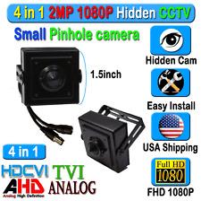 4in1 HD Hidden SPY Camera 2MP CCTV HD CVI AHD TVI Analog CVBS Pin Hole mini size