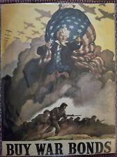WWII WAR USA BOND STARS STRIPES FLAG NEW FINE ART PRINT 30X40 CMS