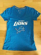 DETROIT LIONS NFL NIKE WOMEN'S DRI FIT V NECK SHIRT XS BLUE