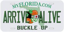 Arrive Alive Buckle Up Florida Aluminum Novelty Car License Plate