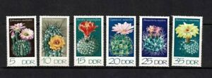 EAST GERMANY DDR 1974 CACTI SET OF 6 MINT NEVER HINGED MNH