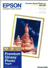 Epson Premium Glossy Photo Paper 210x297mm (8.25x11inches)  255 g/m² 20 Sheets S