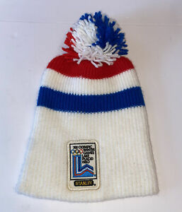 Vintage 1980's Olympic Winter Games Lake Placid  Knit Hat Stanley