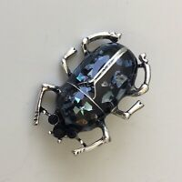 Beetle brooch Pin In enamel on Metal