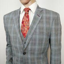 Cavani para hombre Traje de corte ajustado gris Príncipe de Gales cheque  Houndstooth 42R W36 L33 Nuevo d2e1ed949576