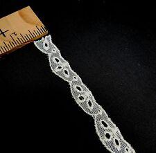 Ecru Net Design Lace Trim 1/2 inches    1 yard