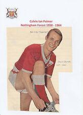 Calvin Palmer Nottingham Forest 1958-1964 Raro Original Firmado Revista De Corte