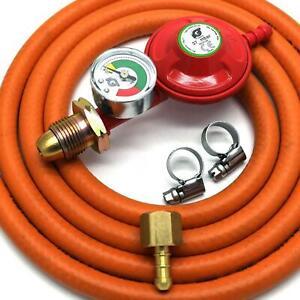 IGT PROPANE GAS REGULATOR WITH GAUGE REPLACEMENT HOSE KIT FOR UK OUTBACK MODELS