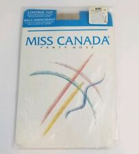 Vintage New In Package Size A Linen Off-White Control Top Pantyhose Nylon Lycra