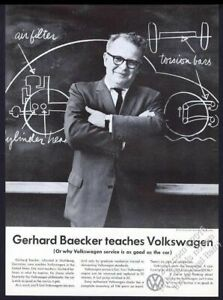 1959 VW Volkswagen Beetle on blackboard chalkboard photo vintage print ad