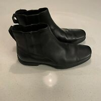 Cole Haan Mens 8 M Ankle Dress Boots Black Leather Slip On
