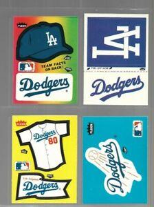 Vintage 80's Los Angeles Dodgers Sticker Lot of 4