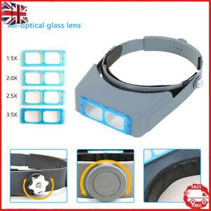 1X Headband Magnifier Head Magnifier Hands Free Magnifying Glass Optivisor Lens