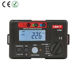 UT582+ Digital RCD ELCB Tester Phase Switch AUTO RAMP Leakage Circuit Breaker