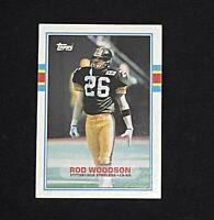 1989 Topps #323 Rod Woodson HOF ROOKIE RC Pittsburgh Steelers MINT