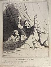 Cauchemar : Lithographie de Daumier: série Actualités (P 254)