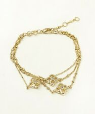 Kendra Scott 14k Gold Plated Crystal Rue Multi Strand Bracelet Jewelry