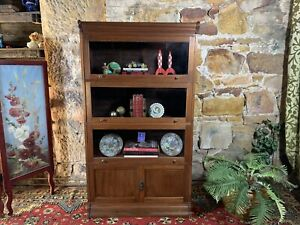 RARE Antique~OAK~Bookcase/Display Cabinet~Solicitors~c1900~Globe Wernecke Era