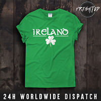 Ireland T Shirt St Patricks Day Logo Shamrock Green Day Gift Irish Tree Nature