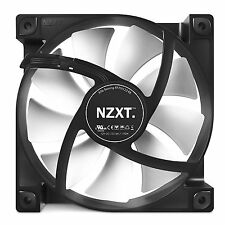 NZXT 12CM 120mm Black White Fins Fan Cooler Case PC Computer Cooling 3 Pin