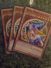 Yugioh: 3x Dark Magician Girl - various set- Common - 1st/Un Edition - Near Mint