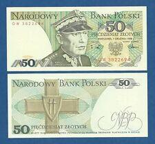 POLONIA // POLAND -- 50 ZLOTYCH ( 1988 ) -- UNC -- PICK 142c .