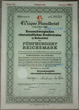 Aktie, Braunschweig 1940, 500 RM,                                     (Art.3227)