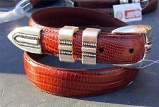 Boys kids unisex Honey Teju Lizard belt size 28 silver buckle, keepers, tip NWT