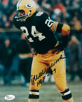 PACKERS Willie Wood signed photo w/ HOF 89 JSA COA AUTO Autographed Green Bay