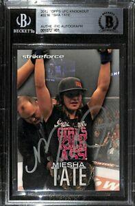 Miesha Tate Signed 2012 Topps UFC Knockout Rookie Card #32 BAS COA RC Autograph