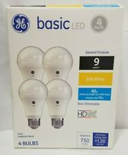 GE Basic LED Bulb 10W Replaces 60W Bulb 750 Lumens A19 Medium Base 4 Pack 36993