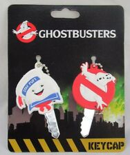 Ghostbusters Rubber Keycaps Stay Puft & Logo Ghost, New on Card