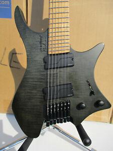 Strandberg Boden Original 7 Trans Black Birdseye Maple fanned fret guitar