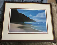 Patrick Doell Original limited Edition lithograph Kawai Hawaii Frame With Glass