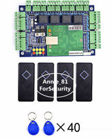 Network 4 Door Entry Access Control Board Controller Panel + 4pCS Card Reader