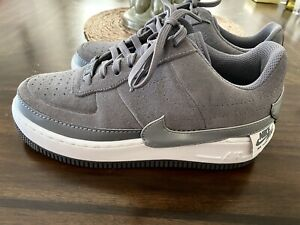 Nike Air Force 1 Jester Low Shoes Gunsmoke Grey BQ3163 Womens Size 8 Worn Once!