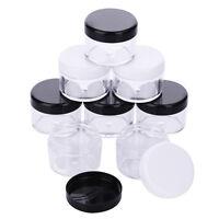 12pcs 20g / 20 gram Large empty clear plastic Sample cream makeup Jar