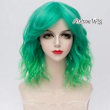 35CM Popular Curly Lolita Medium Heat Resistant Women Ombre Wig+Wig Cap Cosplay