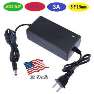 48V 3A 144W AC100-240V Power Supply for CCTV / LED / IP Cameras