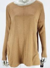 Sweater 0X Plus Style&Co Vintage Soul Salty Nut Tan Seamed Long Tunic $57 NWT BL