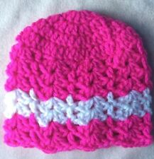 Handmade Girls' Striped Baby Caps & Hats