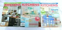 KITCHENS Magazine Lot of 3  Small Kitchen Big Ideas, Remodeling Success, DIY #S1