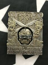 SERE Survial Evade Resistance Escape 3D Spinning BlIndfold Skull Challenge Coin