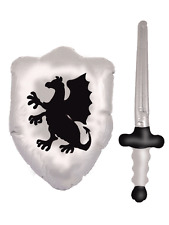 Inflatable Knight Crusader Medieval Fancy Dress Accessory Kit Sword & Shield Toy