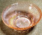"Vintage Pink Depression Glass 5"" Spiral Ice Cream Bowl"