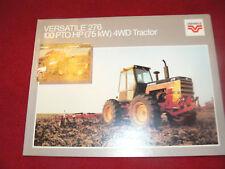 Versatile 276 Tractor Dealer's Brochure BR-25-104-84