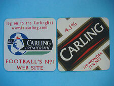 Beer Bar Coaster: CARLING Premiership Football - Soccer; London, Ontario, CANADA