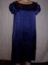 ABS Allen Schwartz Sapphire Evening satin Dress with short sleeves Size 14 NWT