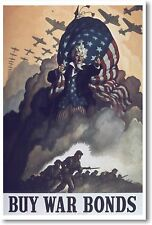 Buy War Bonds - NEW Vintage WW2 Reproduction Art Print - POSTER