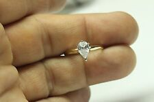ENGAGEMENT RING WITH 2.00 PEAR SHAPE 14 KARAT Yellow Gold